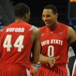 Ohio State  guard William Buford (44) and Ohio State  forward Jared Sullinger (0)
