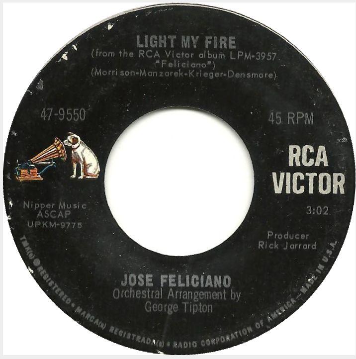 Jose Feliciano Light My Fire B W California Dreamin Internetfm Com