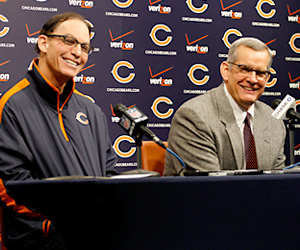 Marc Trestman and Phil Emery, fired by the Bears