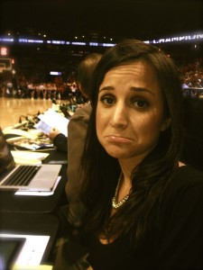 Dianna Russini of NBC4 Washington, DC laments her team's demise and the end of coverage of the second round.