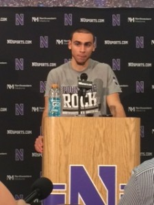 Tre Demps talk to the media after 101-49 win