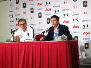 PSG manager Laurent Blanc post match