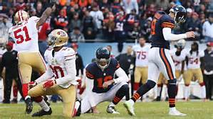 Bears Kicker Robbie Gould misses game winning FG against the 49ers