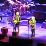 United (Center) in Song: Paul Simon and Sting Prove a Terrifically Tuneful Tandem