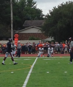 Rookie Kyle Fuller (Kneeling, center) did not see much action and remained on the sidelines most of the time.