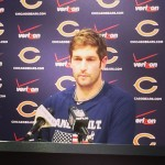 Bears QB Jay Cutler addresses the media on Thursday November 13, 2014. Photo by SRN Broadcasting