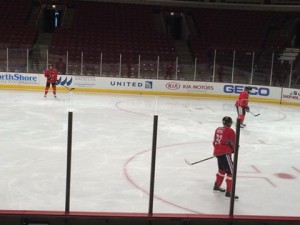The Chicago Blackhawks get ready for Fridays matchup against Montreal