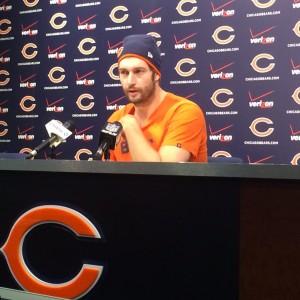 Bears QB Jay Cutler meets with the media