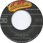"Arthur Alexander: ""Anna (Go To Him)"" b/w ""You Better Move On"""