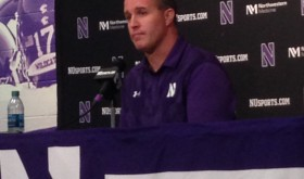 Pat Fitzgerald at Northwestern Media Day