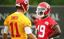 Chiefs QB Alex Smith and WR Jeremy Maclin